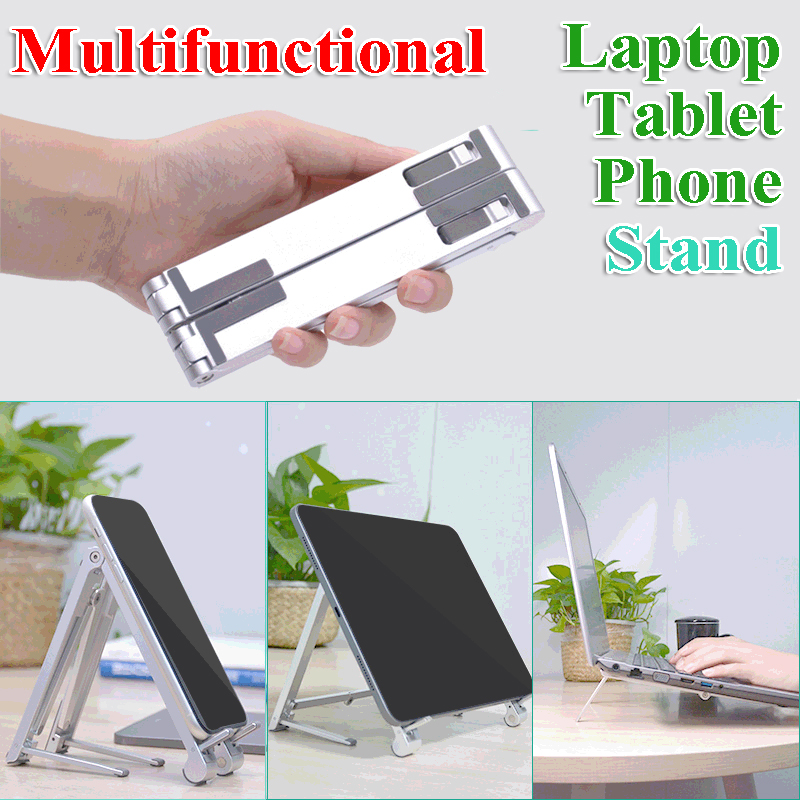 All In One Portable Notebook Stand for Macbook Ipad Laptop ABS Plastic Folding Support Multifunctional Tablet Phone Holder