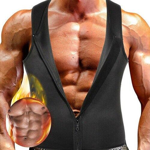 Men's Compression Slimming Best Shapewear T Shirt Vest For Waist Chest Trainer Fat Burner Shapewear Neoprene Vest Sweat Shirt