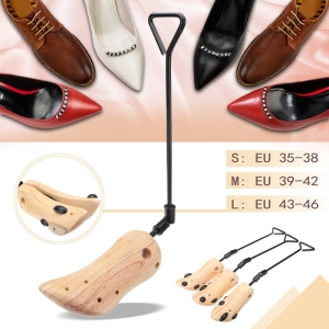 Image 4 - ABDB 1 Piece Adjustable Shoe Stretcher Expanded Code Wood Support Device Boot Of Leather Shoes High Heels Female Expansion