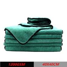 สำหรับการจัดส่ง DROP 1200GSM Super Soft Premium ไมโครไฟเบอร์ Cltoth Ultra Absorbancy Aqua Deluxe ผ้าเช็ดตัวล้างรถ40X40ซม.Duster