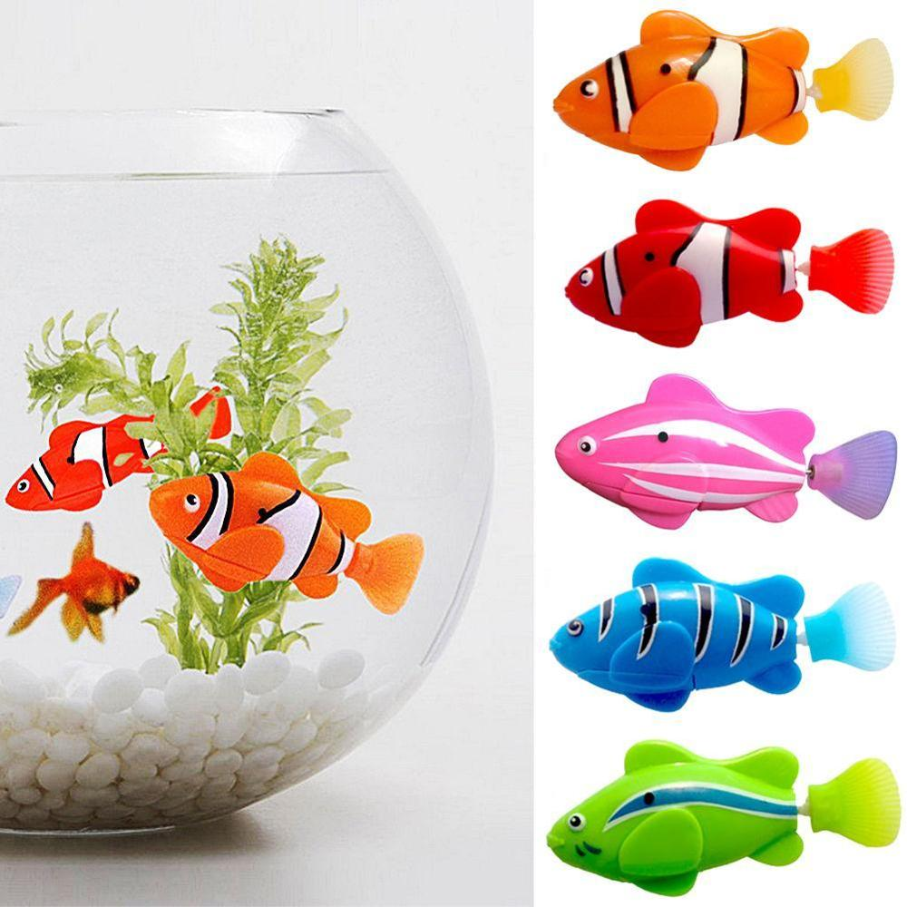 Cute Electronic Activated Battery Powered Toy Fish Pet For Fishing Tank Play Animals Fantastic Gift Quality Standard Home Decor