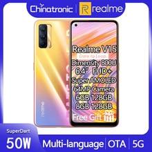 Oryginalny Realme V15 6GB 128GB 5G telefon komórkowy 6.4