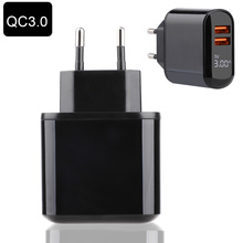 18W Quick Charge 3.0 PD Fast Charging Mobile Phone Charger for iPhone Xiaomi Samsung Huawei USB Charger LED Display QC 3.0 18w fast usb charger adapter support quick charge 3 0 usb type c pd charger mini portable phone charger for iphone huawei xiaomi