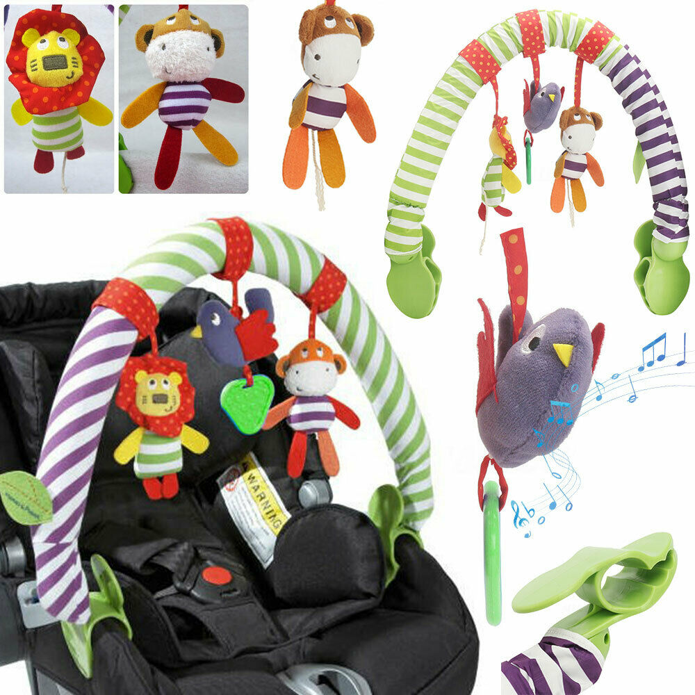Baby Toys Infant Baby Rattle  Baby Play Rattles Bed Clip Hanging Bell Toys Pendant Music Stroller Car Seat Cot Hanging Travel