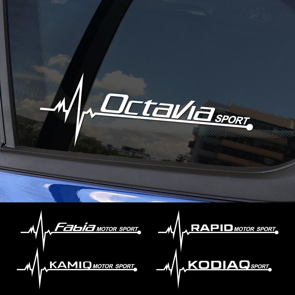 2PCS Car Sticker Side Window PVC Decal For Skoda Octavia 2 A7 A5 Fabia 3 Rapid Superb 3 Kodiaq Scala Karoq Kamiq Accessories