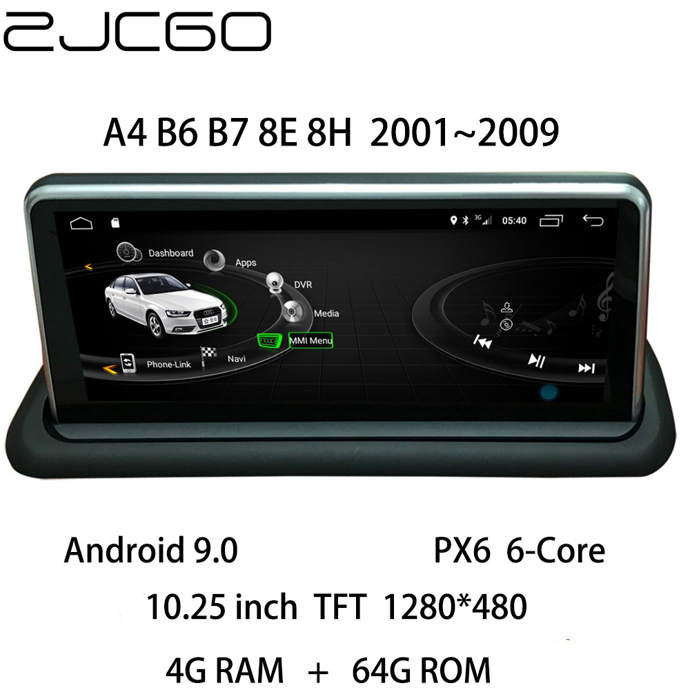 Car Multimedia Player Stereo <font><b>GPS</b></font> DVD Radio Navigation <font><b>Android</b></font> Screen Monitor MMI System for Audi A4 B6 B7 8E 8H <font><b>2001</b></font>~2009 image