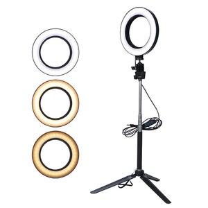 Image 5 - Video Light Three Modes Light LED Selfie Ring Light Dimmable LED Ring Lamp Photo Video Camera Phone Light Ring Light Fill Light