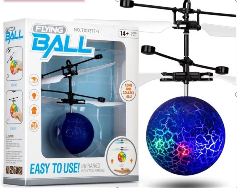 Sensing Crystal Ball Suspension Shining Aircraft Crack Sensitive Bulb Stall CHILDREN'S Toy