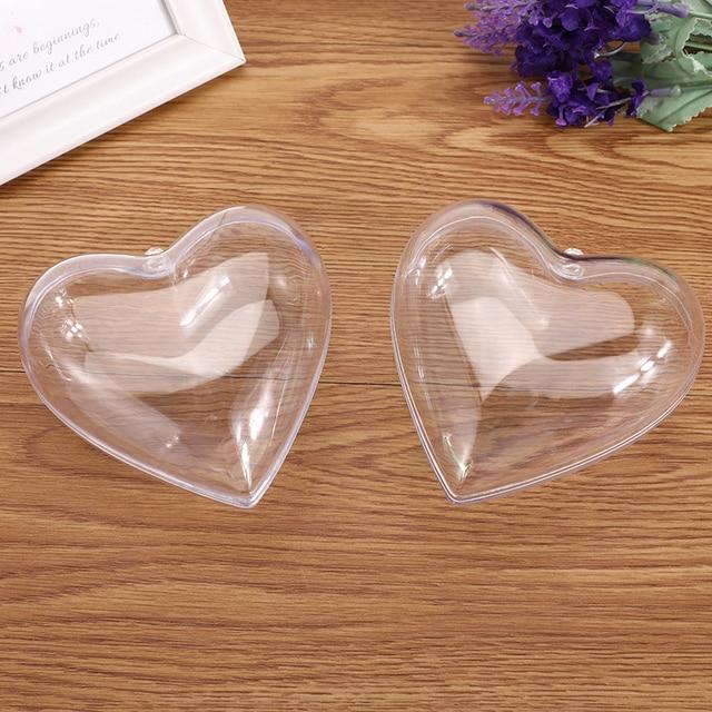 5Pcs/Set Clear Plastic Bath Bomb Mold Mould Round Heart Egg Shape Ball Sphere Bath Bomb Accessories Fillable Ball DIY Bath Tool 2