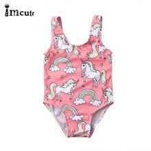 Милый купальник imcute 2020 для новорожденных девочек летний