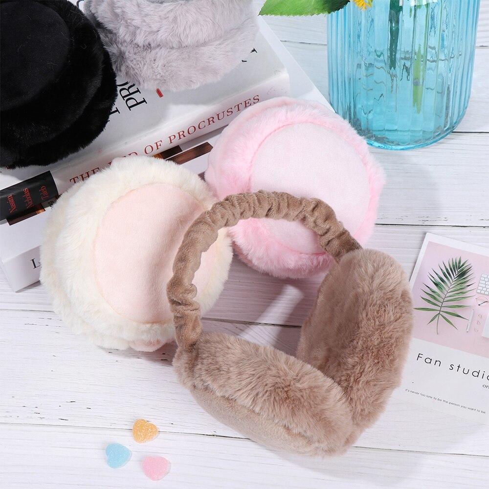 1PC NEW Adjustable Warm Earmuff Foldable Earlap Faux Fur Ear Protector Headband Women Girls Fashion Winter Outdoor Accessories