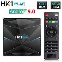 HK1 Play Android 9.0 TV Box Amlogic S905X2 Quad Core 4GB RAM 32GB 64GB ROM Media Player H.265 4K HD Smart Set Top Box 2GB 16GB