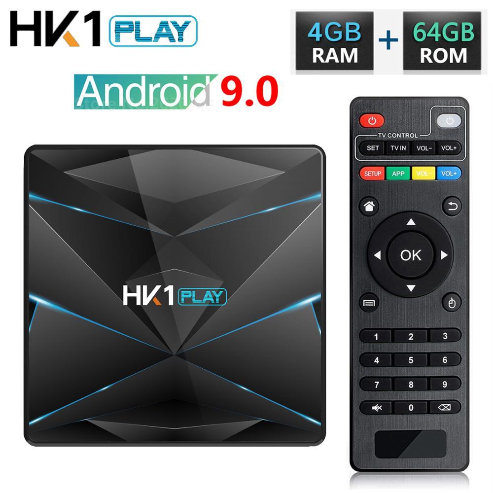HK1 Spielen Android 9.0 TV Box Amlogic S905X2 Quad Core 4GB RAM 32GB 64GB ROM Media Player H.265 4K HD Smart Set Top Box 2GB 16GB