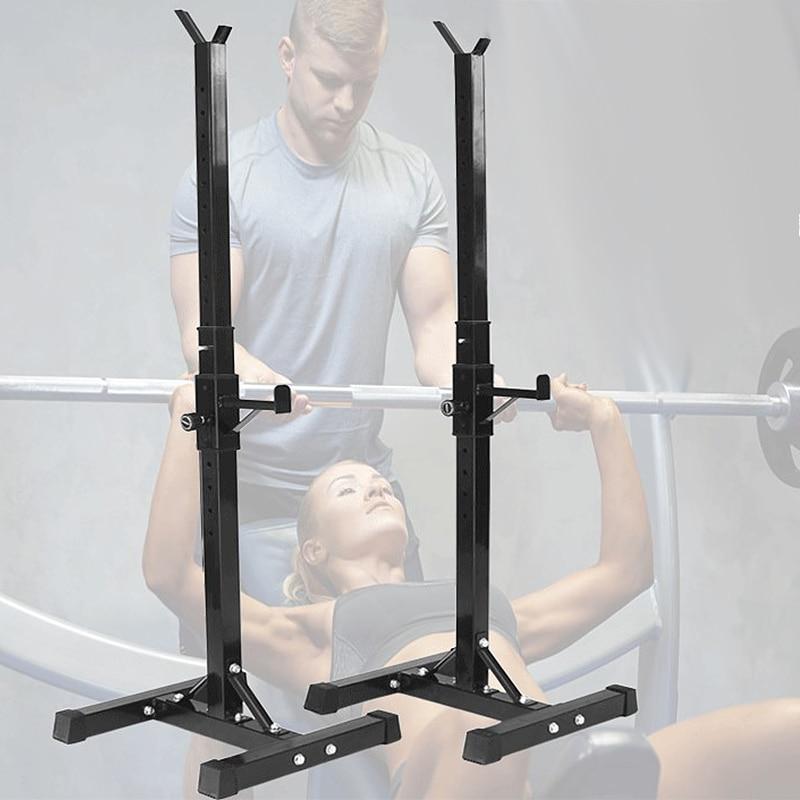 Barbell Acero soporte ajustable multifunción tipo Split Squat Rack mancuernas de levantamiento de pesas de entrenamiento de fuerza Fitness de prec - 4