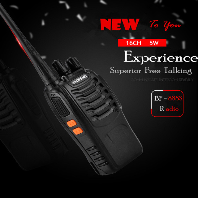 1PC or 2PCS Baofeng BF-888S Walkie Talkie 888s UHF 5W 400-470MHz BF888s BF 888S H777 Cheap Two Way Radio with USB Charger H-777 5