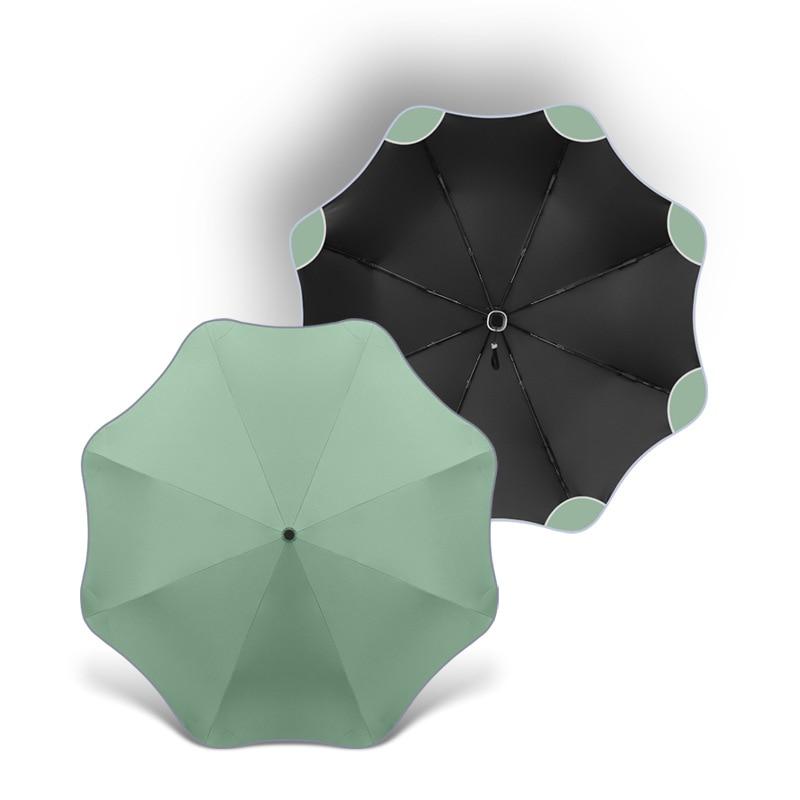 Оригинальный автоматический зонт с изгибом, мужсветильник ночник, женский, мужской зонт с защитой от ветра