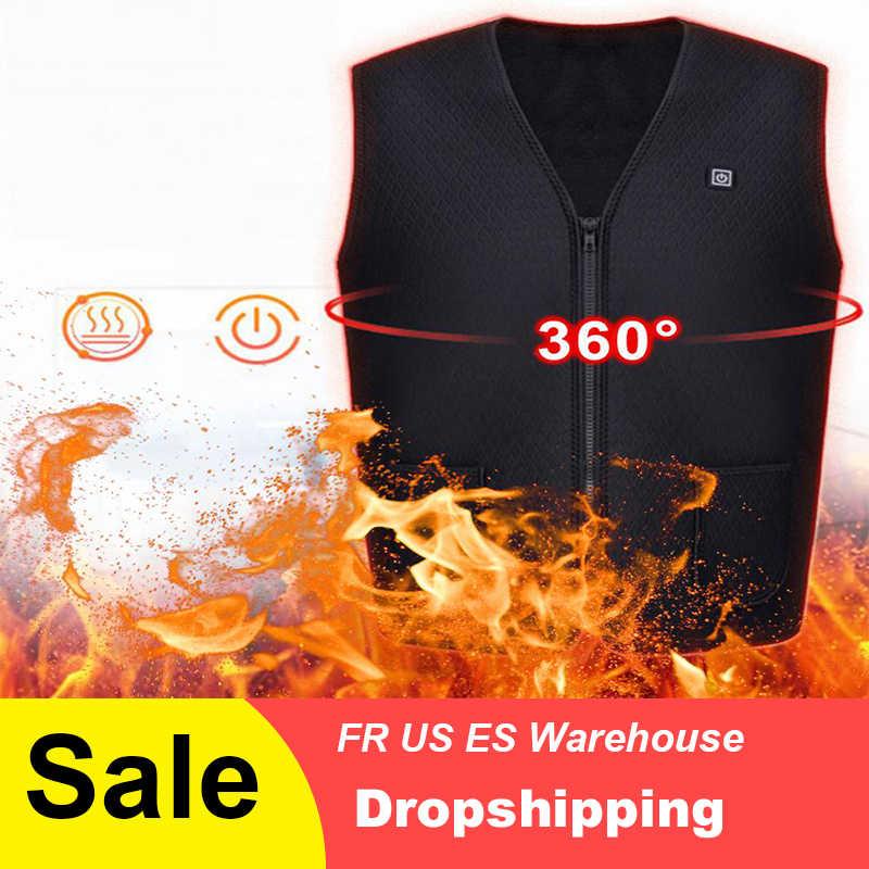 Теплый костюм жилет для мужчин и женщин Открытый USB Электрический инфракрасный