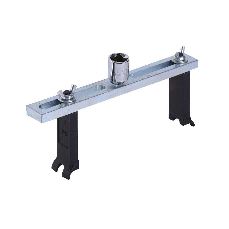 Инструмент для снятия крышки топливного насоса, гаечный ключ с 2 захватами, регулируемый инструмент для снятия крышки топливного бака, евро...
