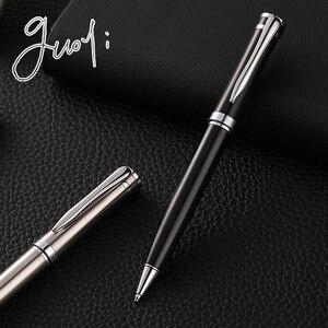 Image 4 - Guoyi G22 Staal Shell G2 424 Balpen Metalen High End Business Kantoor Geschenken En Corporate Logo Maatwerk Handtekening pen