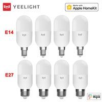 Xiaomi-bombilla LED inteligente Yeelight M2, con Bluetooth, versión de malla, E27, E14, regulable, temperatura de Color, para Homekit, Control por aplicación MiHome