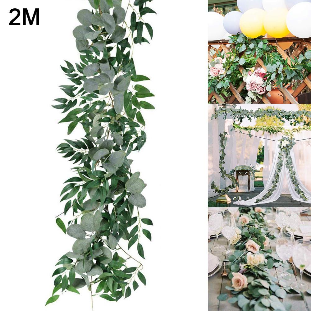 Искусственная подвесная гирлянда из листьев эвкалипта