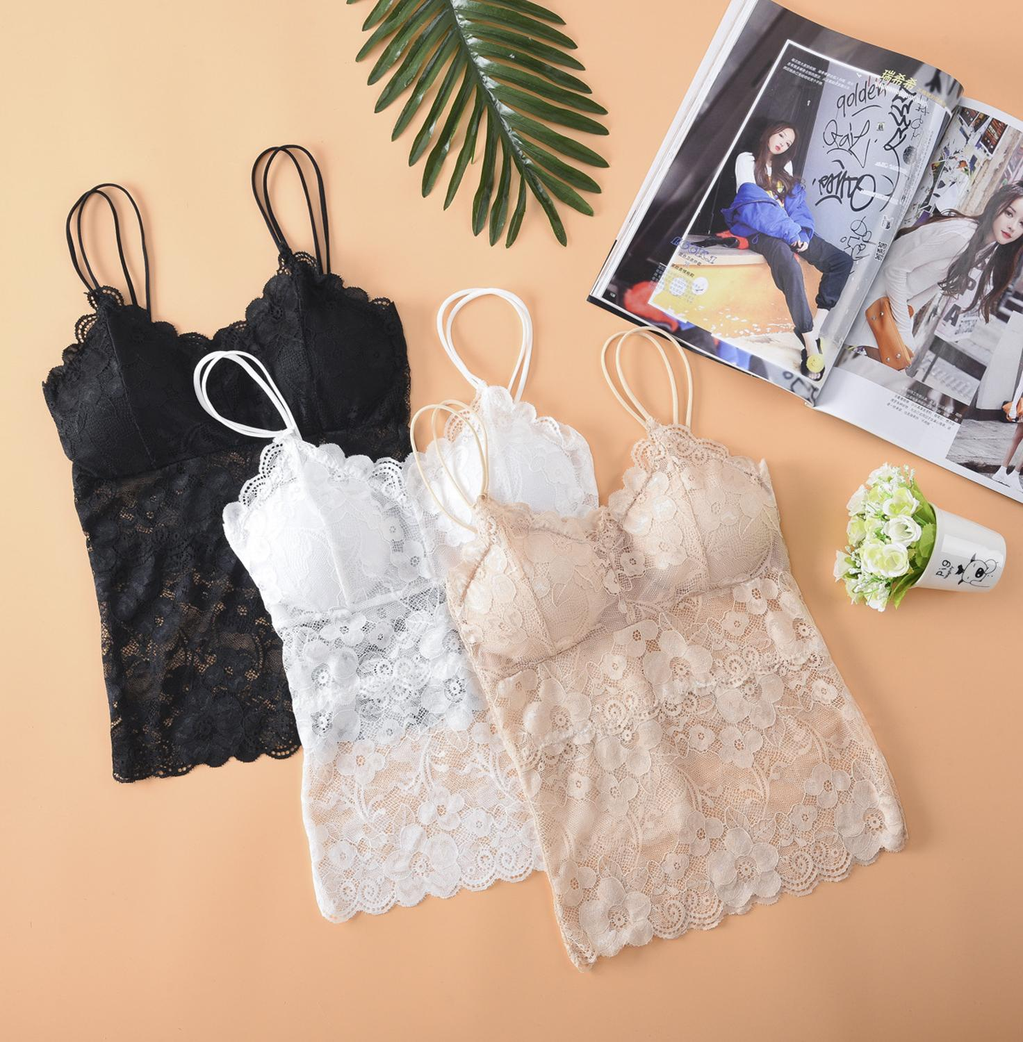 Sexy Bra Femme Crop Top Women Lace Bralette Padded Push Up Lingerie Seamless Intimates Wireless Bras Brassiere Underwear