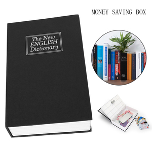 Medium Home Security Dictionary Key Book Safe/Lock Box/Storage/Piggy Bank Creative Money Box Home Accessories(China)