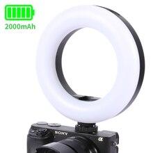 Ulanzi – anneau lumineux rechargeable avec chaussure froide, éclairage annulaire pour Microphone, Selfie, vidéo Vlog Live Youtube