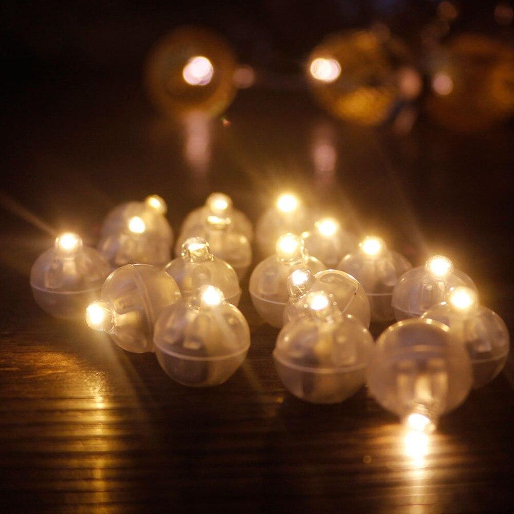 50 шт. стакан небольшой круглый шар светильник переключатель шар Светодиодная светящаяся вспышка лампы светильник для Свадебная вечеринка ...