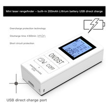 Mini handheld laser medidor de distância digital laser rangefinder portátil range finder diastimeter distância área