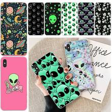 LJHYDFCNB Alien Space Soft Silicone Black Phone Case For iphone 6 6s plus 7 8 plus X XS XR XS MAX 11 11 pro 11 Pro Max Cover ljhydfcnb wave spray cover soft shell phone case for iphone 6 6s plus 7 8 plus x xs xr xs max 11 11 pro 11 pro max cover