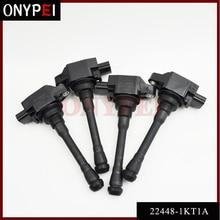 4pcs/lot Ignition Coil 22448 1KT1A 224481KT1A For Nissan Altima Rogue 2.5L Sentra Cube 1.8L Infiniti 22448 JA00C 22448JA00C