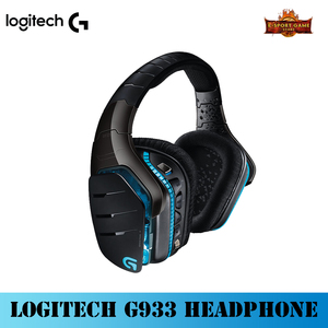 Logitech G933 bezprzewodowy 7.1 Surround RGB gamingowy zestaw słuchawkowy wieloplatformowy DTS Dolby słuchawki przewodowy/bezprzewodowy do laptopa komputer dla graczy