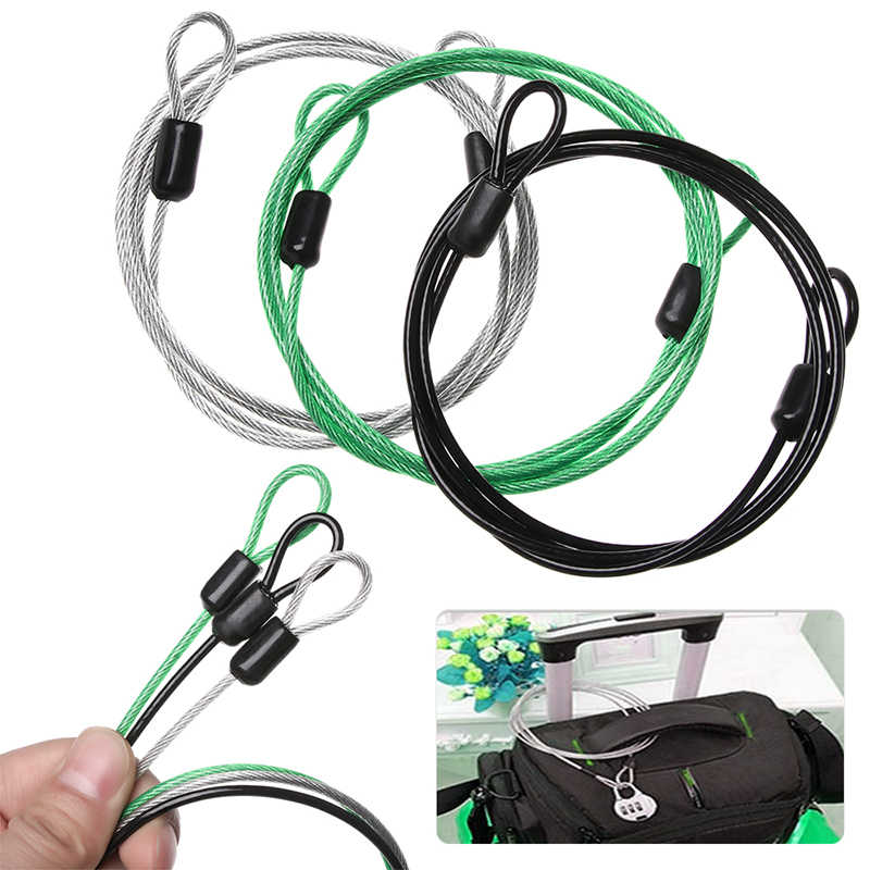 Cycling Bikes Bicycle Cable Lock Luggage Motorcycle Scooters Rope Latch Steel