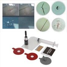 Windshield Repair Kit Quick Fix Car Cracked Glass Windscreen Repair Tool Kit Resin Sealer DIY Auto Window Screen Polishing