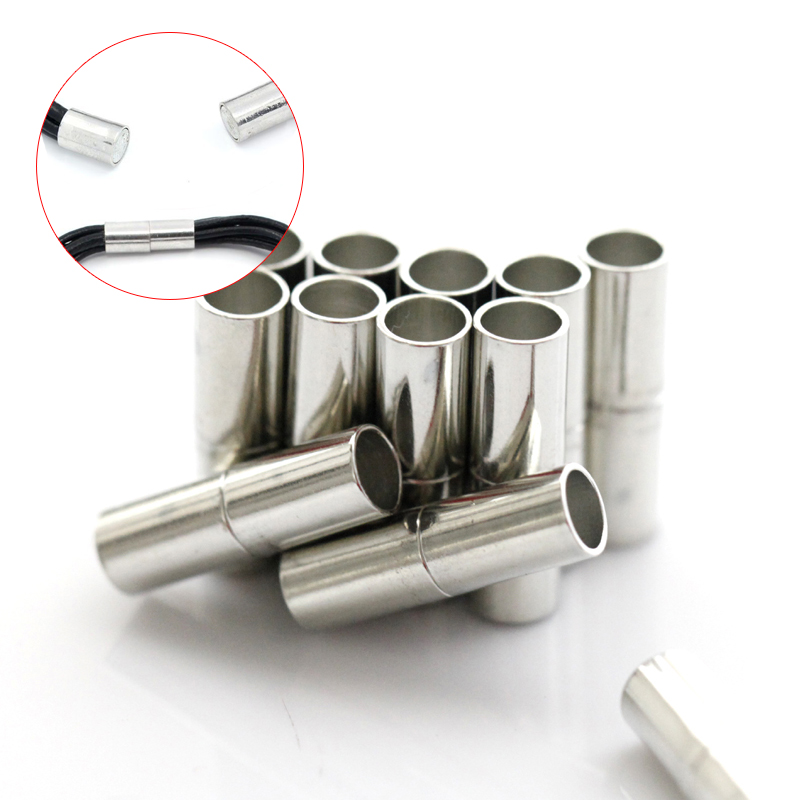 10Sets 5mm 6mm 7mm Silver Column Connector Magnetic Clasps For Bracelets Jewelry Making Necklace DIY Accessories