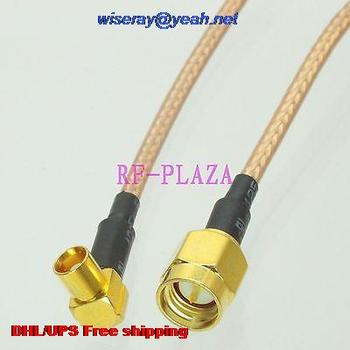 DHL/EMS 100 pcs Cable 6inch SMA male to MCX female right angle RG316 RF Pigtail jumper cable with one year warranty-A2