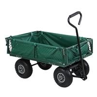 Yonntech Foldable Garden Shopping Trolley Wagon Cart Truck 4 Wheel Pull Along Wheelbarrow Chariot de pliage Panier de wagon