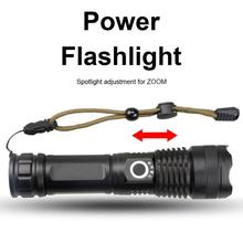 100000 루멘 XHP50 5 모드 LED USB 충전식 18650 26650 손전등 토치