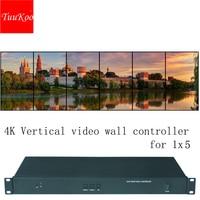 Controlador video vertical da parede de 1x6 4 k  processador video vertical da parede para 6 unidades  definição da entrada até 3840x2160 @ 60 hz Peças de CFTV     -