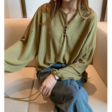 2020 Spring Plus Size M- 4XL Women Blouse Long Sleeve Loose Tops O Neck Ladies