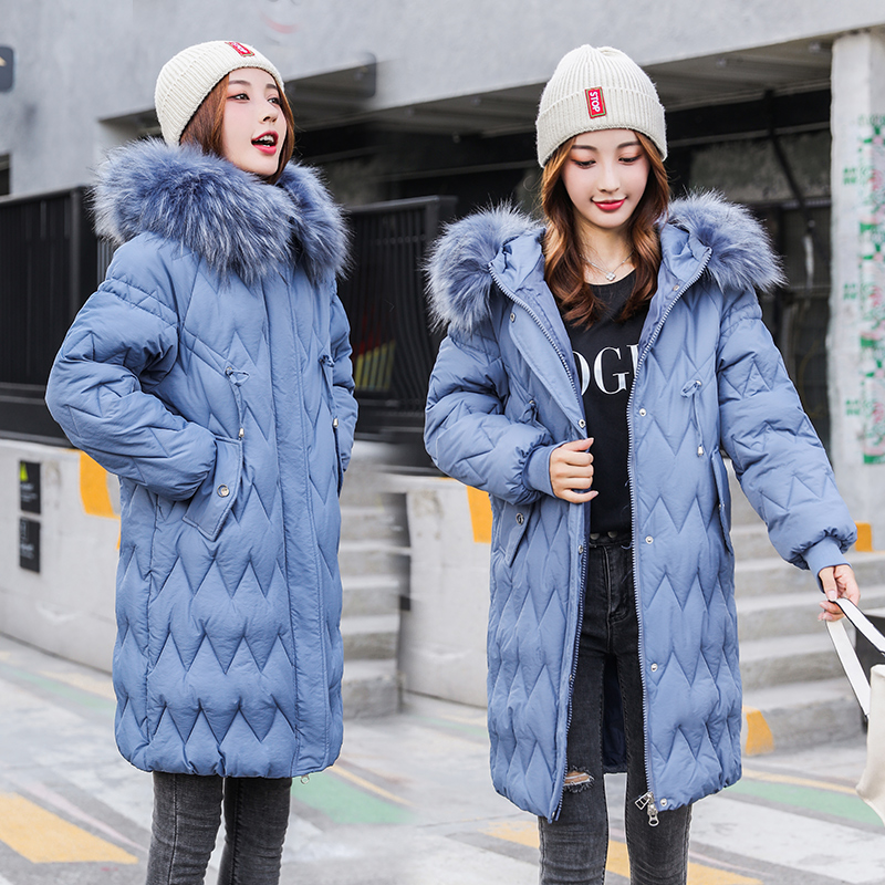 Jacket Winter Snow-30-Degree-Jackets Coat Hooded Fur-Collar Long Women's Elegant New