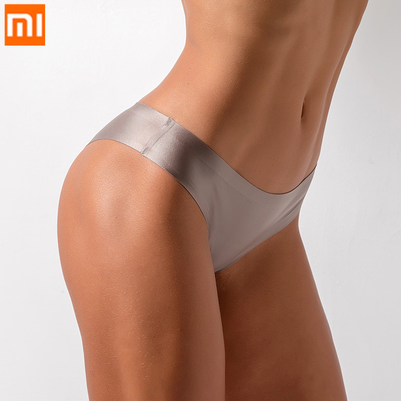 3pcs Xiaomi Ice Silk Sexy Women Underwear G String Thongs Low Waist Women's Panties Ladies' Seamless Briefs Lingerie Underpants