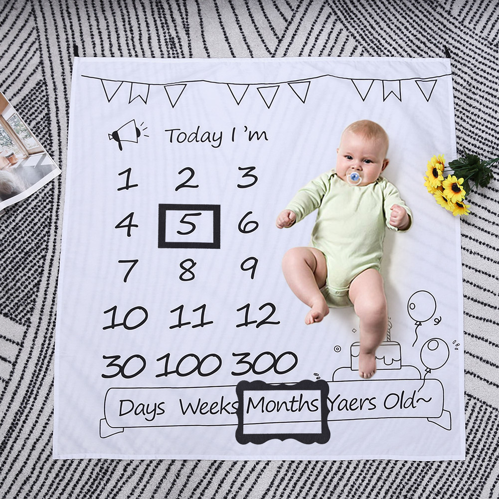 Simple Infant Photo Frame Prop Baby Photography Background Accessories Newborn Hundred Days Memorial Photo Frame