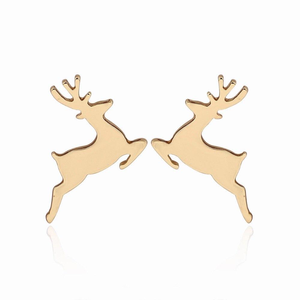 New Fashion Animal Deer earrings women Small Cute Running deer pendientes christmas gifts