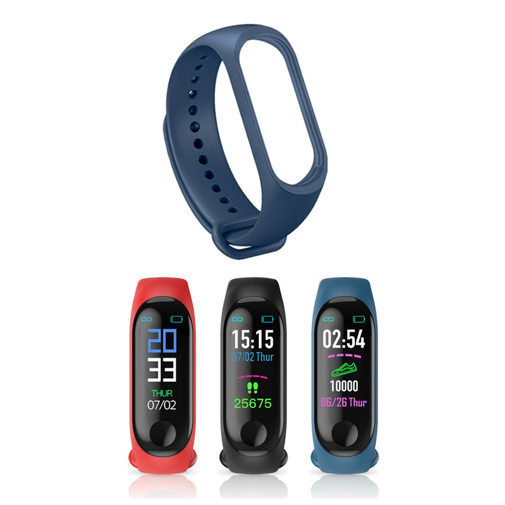 Smart Watch M3 Strap Mi Band 3 Silicone Bracelet Watchbands FOR USB Charging Watch Replacement Sports Rubber Accessories