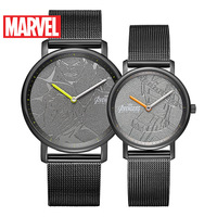 Disney Marvel Wristwatch Couple Quartz Watch Gifts for Men Lover Watch Women Watches Couple Gift Trending Stainless Steel Round