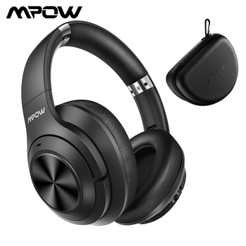 Mpow H21 Wireless Bluetooth Headphones Active Noise Cancelling Headset with Microphone Deep Bass for Computer PC iPhone Android