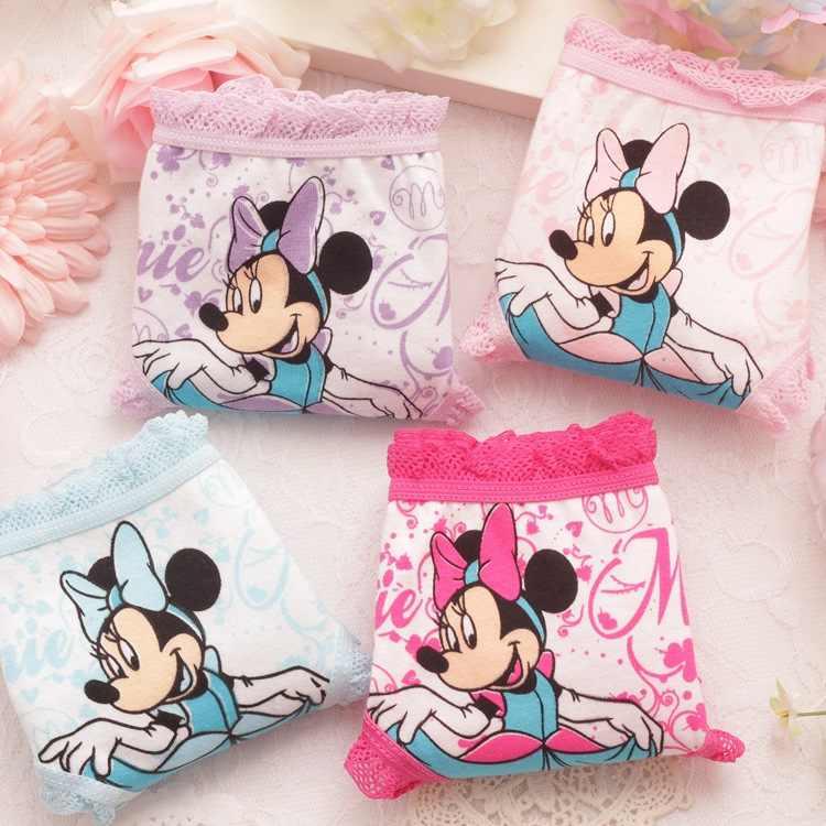 1 Stuks Disney Minnie Cartoon 95% Katoen Kinderen Ondergoed Katoenen Broek Meisje Driehoek Ondergoed Kinderen Shorts Meisje Baby Slipje