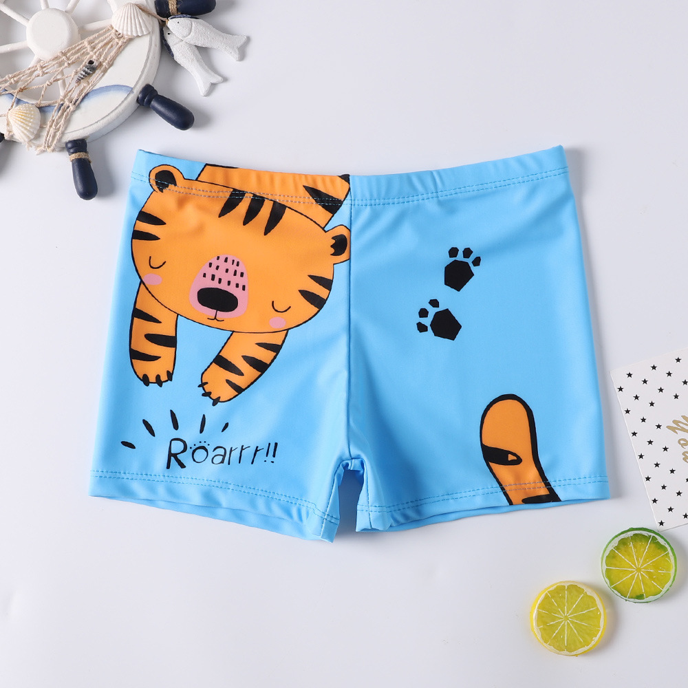 2020 New Style CHILDREN'S Swimming Trunks Boys'swimmingtrunks Teenager Quick-Dry Cartoon Lace-up Swimming Trunks AussieBum